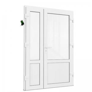 Дверь ПВХ двупольная. Rehau 70