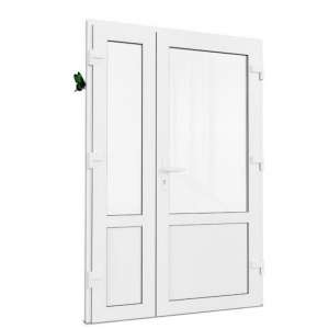 Дверь ПВХ двупольная. Brusbox 70