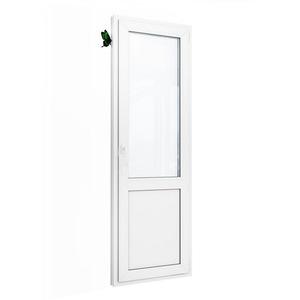 Дверь ПВХ однопольная. Brusbox 70
